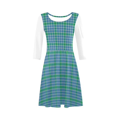 3/4 Sleeve Dress - Macdonald Dress Tartan 3/4 Sleeve Sundress 3/4 Sleeve Sundress (D23)