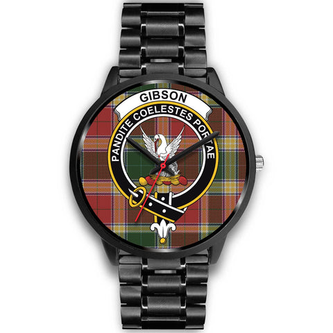 Gibson, Rose Gold Metal Link Watch,  leather steel watch, tartan watch, tartan watches, clan watch, scotland watch, merry christmas, cyber Monday, halloween, black Friday