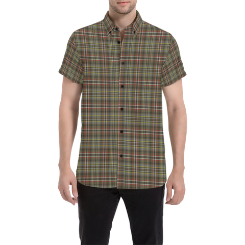 Image of Tartan Shirt - Scott Green Weathered | Exclusive Over 500 Tartans | Special Custom Design