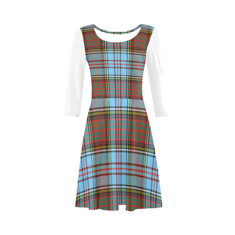 Anderson Ancient Tartan 3/4 Sleeve Sundress | Exclusive Over 500 Clans