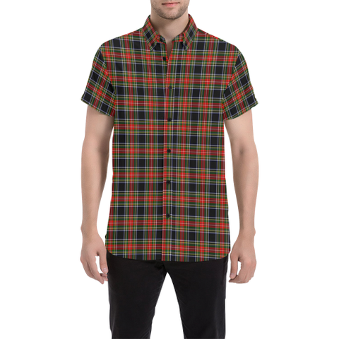 Tartan Shirt - Stewart Black | Exclusive Over 500 Tartans | Special Custom Design