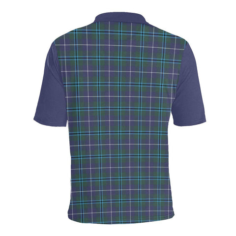 Tartan Polo - Sandilands Plaid Mens Polo Shirt - Clan Crest