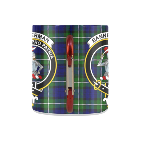 ScottishShop Insulated Mug - Bannerman Tartan Insulated Mug - Clan Badge