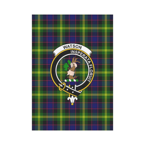 Garden Flag | Tartan Watson Modern Flag | 2 Sizes Clan Badge
