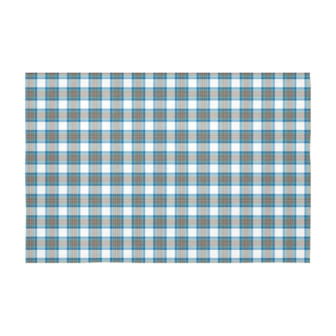 Image of Stewart Muted Blue Tartan Tablecloth | Home Decor