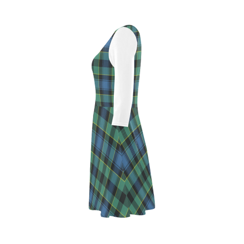 Mouat Tartan 3/4 Sleeve Sundress | Exclusive Over 500 Clans