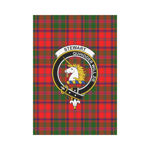 Garden Flag | Tartan Stewart Of Appin Flag | 2 Sizes Clan Badge