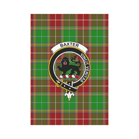Image of ScottishShop Garden Flag - Tartan Baxter Modern Flag  Clan Badge