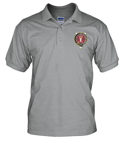 Image of Polo T-Shirt - Robertson Tartan Polo T-shirt for Men and Women