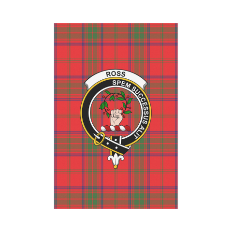 Image of ScottishShop Garden Flag - Tartan Ross Modern Flag  Clan Badge