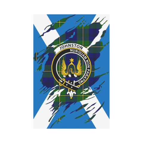 Garden Flag | Tartan Johnstone Lives In Me Flag | 2 Sizes