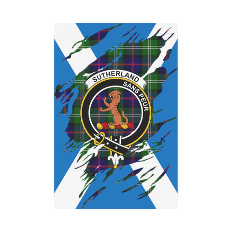 Garden Flag | Tartan Sutherland Ii Lives In Me Flag | 2 Sizes