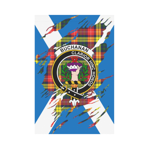 ScottishShop Garden Flag - Tartan Buchanan Lives In Me Flag