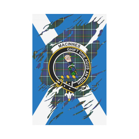 Garden Flag | Tartan Macinnes Lives In Me Flag | 2 Sizes
