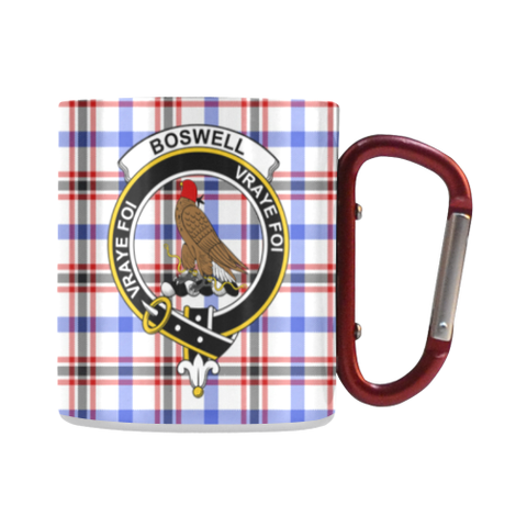 Boswell Modern  Tartan Mug Classic Insulated - Clan Badge
