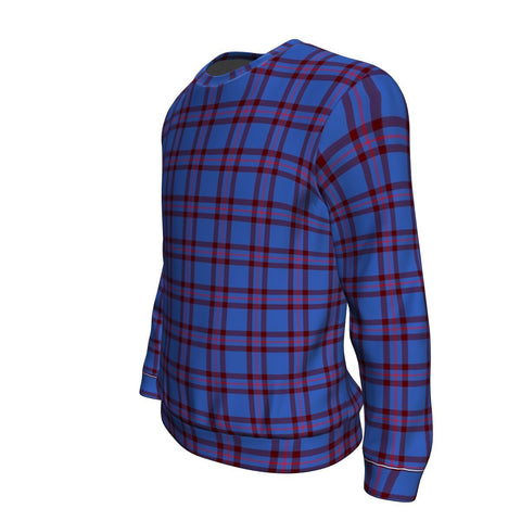 Tartan Sweatshirt - Clan Elliot Modern Sweatshirt For Men & Women