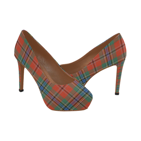 Maclean Of Duart Ancient Tartan High Heels, Maclean Of Duart Ancient Tartan Low Heels
