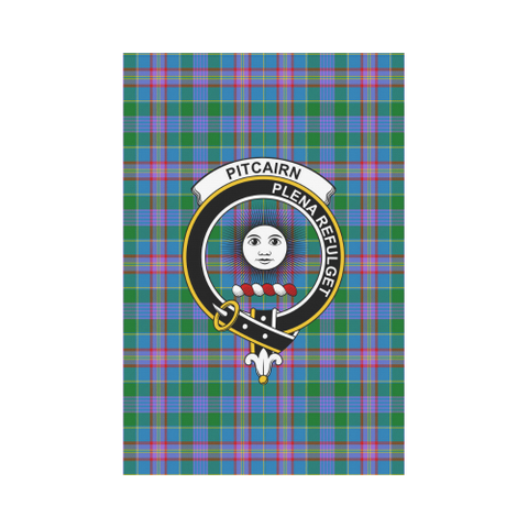 Image of ScottishShop Garden Flag - Tartan Pitcairn Hunting Flag  Clan Badge