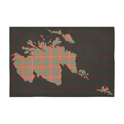 Bruce Ancient Tartan Map Tablecloth