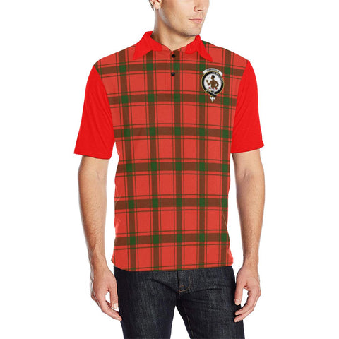 Tartan Polo - Darroch (Gourock) Plaid Mens Polo Shirt - Clan Crest