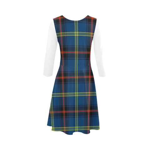 Grewar Tartan 3/4 Sleeve Sundress | Exclusive Over 500 Clans