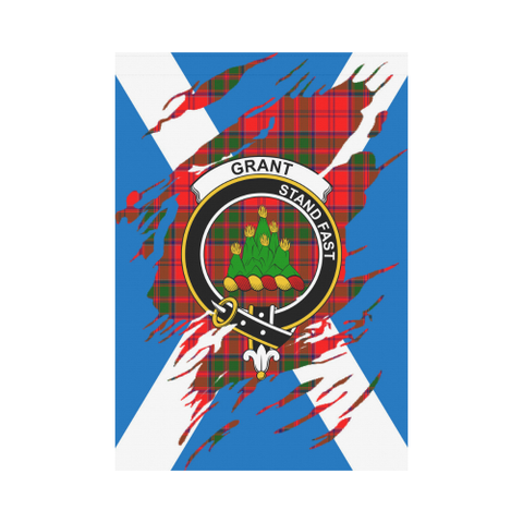 Garden Flag | Tartan Grant Lives In Me Flag | 2 Sizes