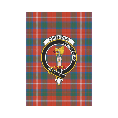 ScottishShop Garden Flag - Tartan Chisholm Ancient Flag  Clan Badge