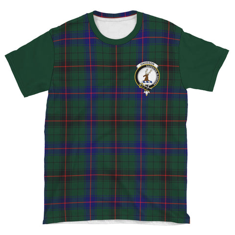 Tartan T-Shirt - Clan Davidson Plaid T-Shirt For Men And Women