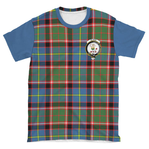 Tartan T-Shirt - Clan Glass Plaid T-Shirt For Men And Women