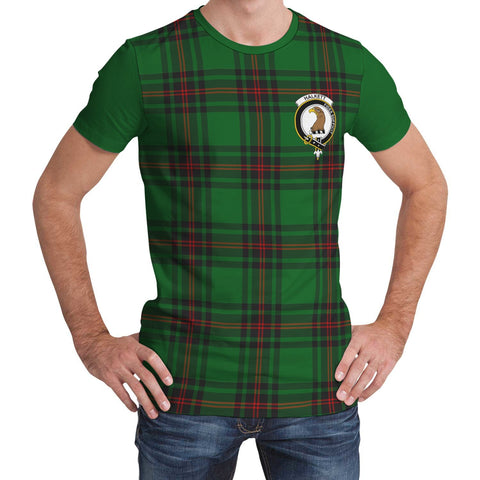 Tartan T-Shirt - Clan Halkett Plaid T-Shirt For Men And Women