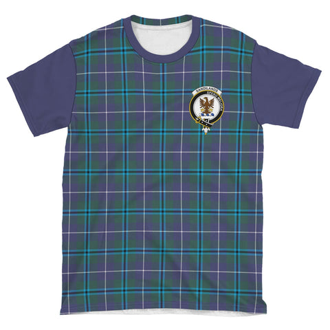 Tartan T-Shirt - Clan Sandilands Plaid T-Shirt For Men And Women