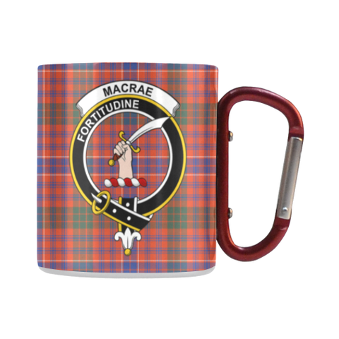 Macrae Ancient Tartan Mug Classic Insulated - Clan Badge