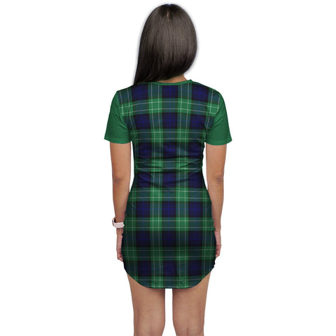 T-shirt Dress - Clan Abercrombie Tartan Plaid T-shirt Dress For Women