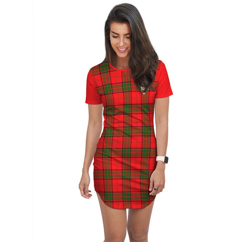 T-shirt Dress - Clan Adair Tartan Plaid T-shirt Dress For Women