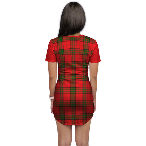 Image of T-shirt Dress - Clan Adair Tartan Plaid T-shirt Dress For Women