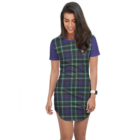 Image of T-shirt Dress - Clan Allardice Tartan Plaid T-shirt Dress For Women