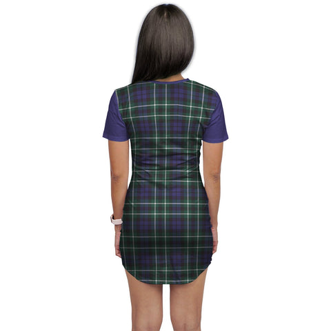 T-shirt Dress - Clan Allardice Tartan Plaid T-shirt Dress For Women