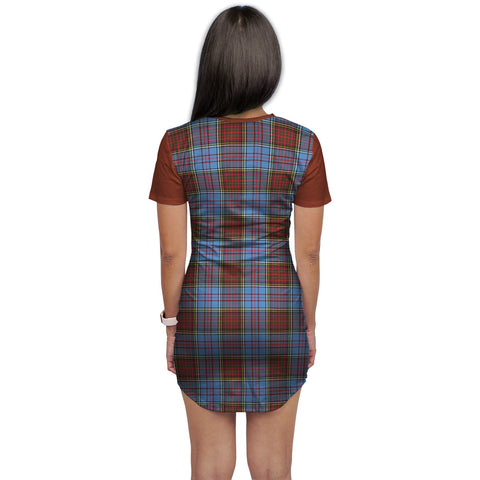 Image of T-shirt Dress - Clan Anderson Tartan Plaid T-shirt Dress For Women
