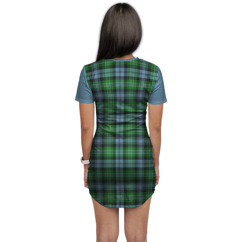 Image of T-shirt Dress - Clan Arbuthnot Tartan Plaid T-shirt Dress For Women