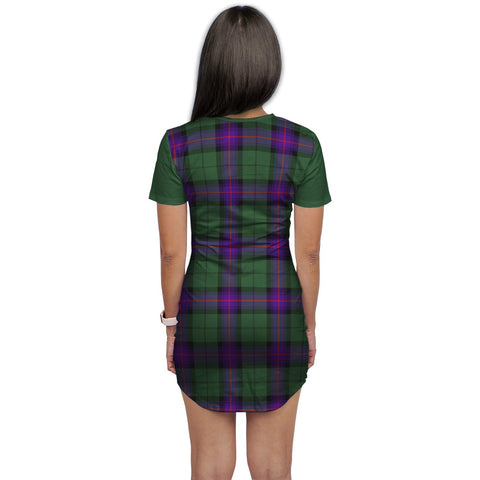 Image of T-shirt Dress - Clan Armstrong Tartan Plaid T-shirt Dress For Women