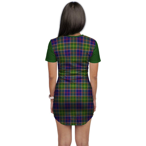 Image of T-shirt Dress - Clan Arnott Tartan Plaid T-shirt Dress For Women