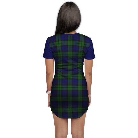 T-shirt Dress - Clan Bannatyne Tartan Plaid T-shirt Dress For Women