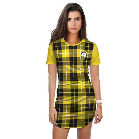 T-shirt Dress - Clan Barclay Tartan Plaid T-shirt Dress For Women