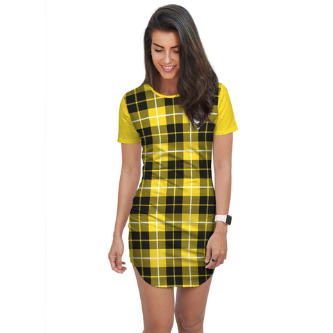 Image of T-shirt Dress - Clan Barclay Tartan Plaid T-shirt Dress For Women