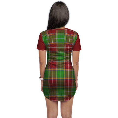 T-shirt Dress - Clan Baxter Tartan Plaid T-shirt Dress For Women