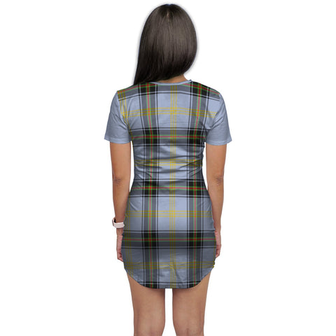 Image of T-shirt Dress - Clan Bell Tartan Plaid T-shirt Dress For Women