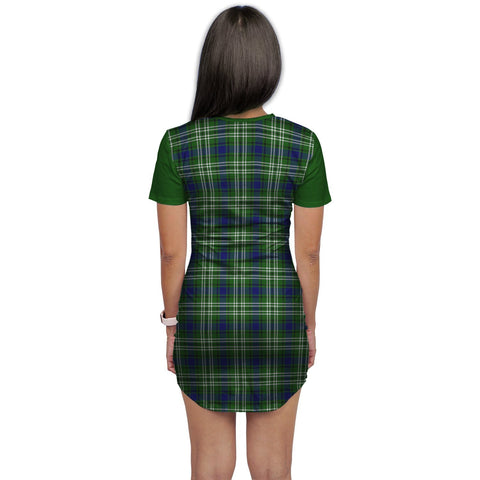 T-shirt Dress - Clan Blackadder Tartan Plaid T-shirt Dress For Women