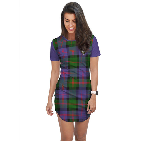 T-shirt Dress - Clan Blair Tartan Plaid T-shirt Dress For Women
