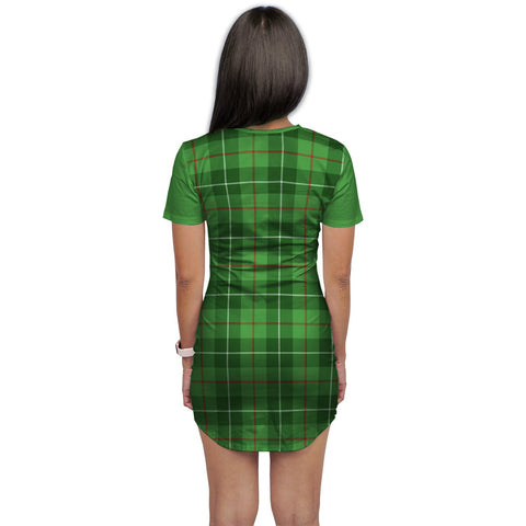 Image of T-shirt Dress - Clan Blane Tartan Plaid T-shirt Dress For Women