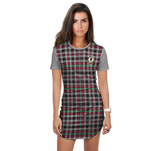 T-shirt Dress - Clan Borthwick Tartan Plaid T-shirt Dress For Women